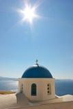 教会希腊santorini 库存照片