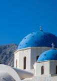 教会希腊santorini 免版税库存照片
