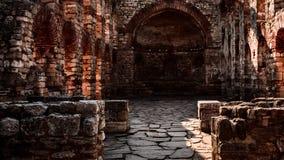 教会废墟在Nessebar 免版税库存图片