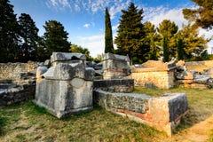 教会废墟在Salona古老城镇  免版税库存图片