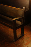 教会座位 免版税库存图片