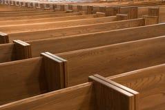 教会座位 免版税库存照片