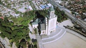 教会建筑学鸟瞰图在智利 库存图片