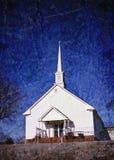 教会影响grunge农村白色 免版税库存照片
