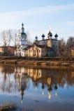 教会德米特里Prilutsky在沃洛格达州。 免版税库存照片