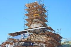 教会恢复 2007第23个耶路撒冷6月修道院新的俄国 Istra 假定大教堂dmitrov克里姆林宫莫斯科明信片区域俄国冬天 免版税库存图片