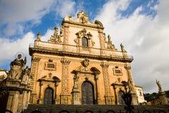 教会意大利modica 库存照片