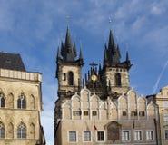 教会捷克夫人我们的布拉格共和国tyn 免版税库存图片