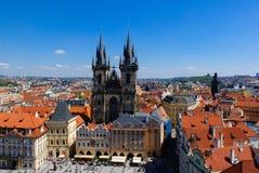 教会捷克夫人我们的布拉格共和国tyn 库存照片
