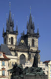 教会捷克布拉格共和国tyn 免版税库存照片