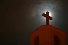 教会接近的交叉 库存图片