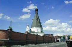教会教堂莫斯科Matrona - 免版税库存照片