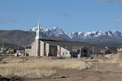 教会新房子的lds 免版税库存照片