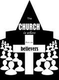 教会是信徒 免版税库存图片