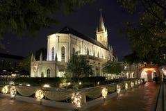 教会晚上 图库摄影
