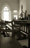 教会有历史内部老 库存照片