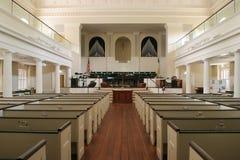 教会有历史的内部 库存照片