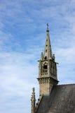 教会有历史的尖顶 免版税图库摄影