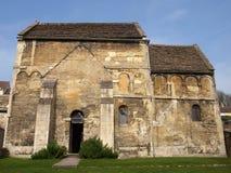 教会有历史的撒克逊人 库存图片