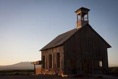 教会有历史的日出 免版税库存图片