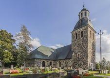 教会有历史的石头 库存照片