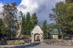 教会有历史的石头 免版税库存图片
