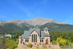 教会有历史的科罗拉多 免版税库存图片
