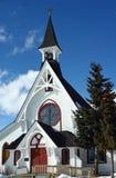 教会有历史的leadville 库存照片