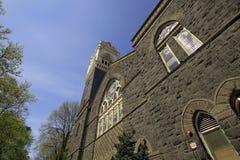教会有历史老 库存图片