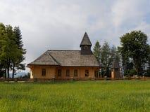 教会木的波兰 图库摄影