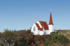 教会村庄 图库摄影