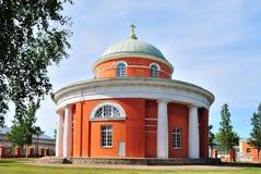 教会来回芬兰的hamina 免版税库存图片