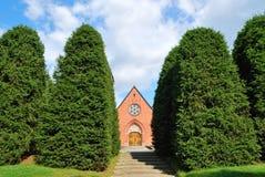 教会森林隐藏的小 免版税库存图片