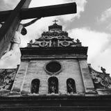 教会欧洲老 免版税库存图片