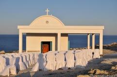 教会正统婚礼 库存图片