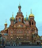 教会正统彼得斯堡俄国圣徒 免版税库存图片