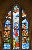 教会污点玻璃窗 免版税库存图片