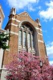 教会污迹玻璃窗 库存照片