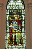 教会污迹玻璃窗  免版税库存照片