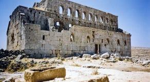 教会沙漠破坏叙利亚 图库摄影