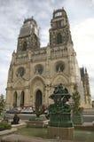 教会法国哥特式奥尔良 免版税库存图片