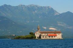 教会海岛 库存照片