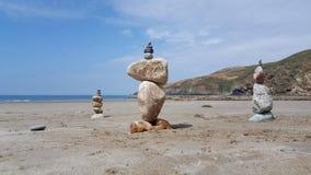 教会海湾小卵石堆1 库存照片