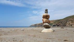 教会海湾小卵石堆3 免版税图库摄影