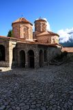 教会湖马其顿naum ohrid st 图库摄影