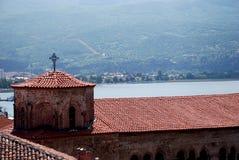 教会湖马其顿ohrid索非亚st 免版税库存图片