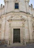 教会炼狱,马泰拉的前面 免版税库存照片