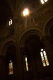 教会照亮了 免版税库存照片