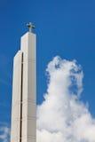 教会现代尖顶 库存照片