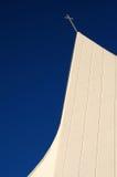教会现代屋顶 免版税图库摄影